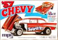 "MPC 1957 Chevy Bel Air 2 Door Sedan ""Spirit of '57"" Flip-Nose Gasser"