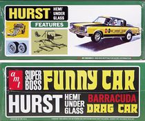 "AMT Bob Riggle ""Hurst Hemi Under Glass"" 1966 Barracuda Mid-Engined Wheelstander"