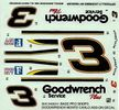 """Revell/Monogram Dale Earnhardt #3 """"Bass Pro Shops"""" 1998 Monte Carlo, Limited Edition Decals, 4.75 x 4.5 inches"""