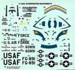 Monogram Lockheed F-104C Star Fighter, 1/72 Scale Decals, 4.75 x 4.5 inches