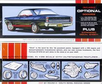 AMT 1966 Ford Fairlane GT or GTA Hardtop