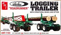 "AMT Peerless ""Roadrunner"" Logging Trailer with Logs and Beam"