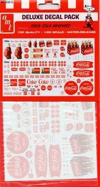 AMT Coca-Cola Graphics Deluxe Decal Pack