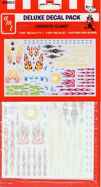 AMT Fantastic Flames Deluxe Decal Pack