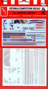 AMT All American Graphics Deluxe Decal Pack