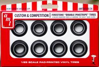 "AMT Firestone Whitewall ""Double Pinstripe"" Tires Parts Pack"