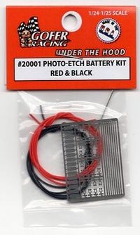 Gofer Racing Photo-etched Battery Kit – Red & Black