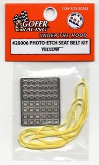 Gofer Racing Photo-etched Seat Belt Kit – Yellow