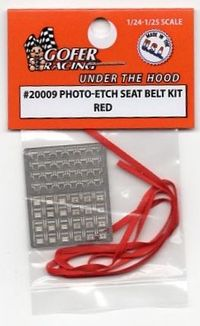 Gofer Racing Photo-etched Seat Belt Kit – Red