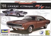 Revell 1968 Dodge Charger R/T, 440 or 426 Hemi, 2 'n 1, Stock or Vintage Drag Racer