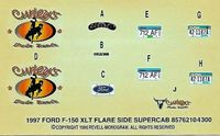 Revell 1997 Ford XLT F-150 SuperCab Flareside Pickup Decals, 4.75 x 2.75 inches