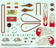 Revell Harley Davidson Special Issue Softail Classic, 1/8th Scale Decals, 6 x 5 inches