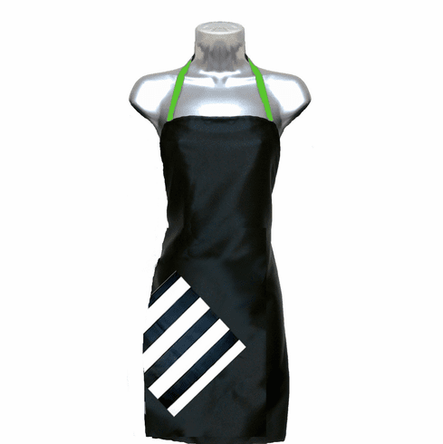 Hair Salon Apron Black-Stripe-Apple
