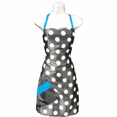 Salon Apron Big Dot + Blue Topaz