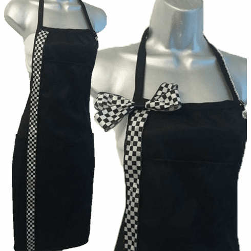 salon-apron-custom-checkerboard Add Name or Monogram Any Color
