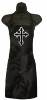 Stylist apron with Glitter Cross