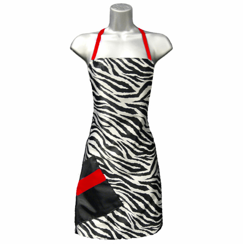 Stylist Apron Zebra-Red