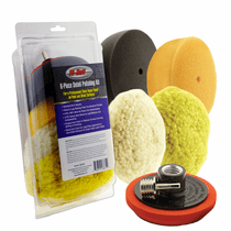 "<b>Hi-Buff  6 Piece 3 1/2"" Detail Polishing Pad & Backing Plate Kit</b>"