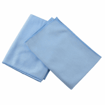 "<b>Hi-Tech Microfiber 16"" x 16"" Glass Cleaning Towel - 12 Pack</b>"
