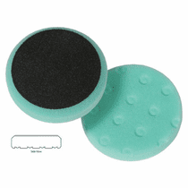 "<b>Lake Country CCS Cutback DA 3.5"" x 7/8"" Green Foam Polishing Pad </b>"