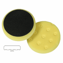"<b>Lake Country CCS Cutback DA 3.5"" x 7/8"" Yellow Foam Cutting Pad   </b>"