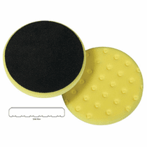 "<b>Lake Country CCS Cutback DA 5.5"" x 7/8"" Yellow Foam Cutting Pad   </b>"