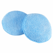 "<b>Hi-Tech Round 5"" Blue Microfiber Wax Applicator pad 12-Pack</b>"