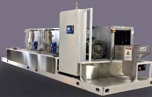 32 Inch Conveyorized Parts Washer With Washing Rinsing