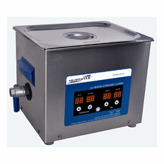"""Heated Ultrasonic Carburetor Cleaning System XPD360-8L 11.75""""LX9.5""""WX4""""D with Sweep and Degas - by Sharpertek�."""