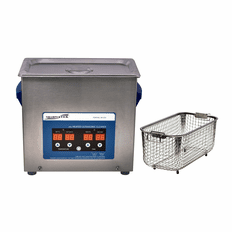 "Heated Ultrasonic Cleaner XPD360-6L with Sweep and Degas 11.75"" � 6"" � 6"" (Tank L � W � Depth) by Sharpertek USA."