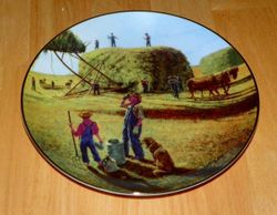 Collector Plate Farming The Heartland Danbury Mint A Well Deserved Break