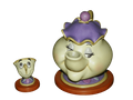 """WDCC Mrs. Potts & Chip """"Good Night, Luv"""" Beauty and the Beast Walt Disney Classics Collection 1997 SOLD"""