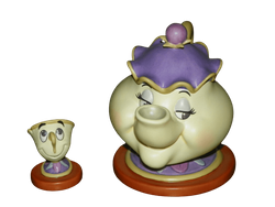 "WDCC Mrs. Potts & Chip ""Good Night, Luv"" Beauty and the Beast Walt Disney Classics Collection 1997 SOLD"