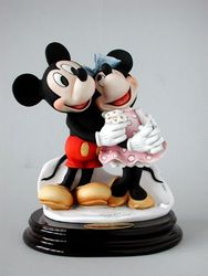 Armani Mickey and Minnie Figurine 1777 C Numbered Ltd Ed 75th Anniversary
