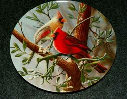 1985 Collector Plate The Cardinal From Birds of Your Garden Collection