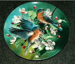 1986 Collector Plate The Bluebird From Birds of Your Garden Collection