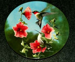 1986 Collector Plate The Hummingbird From Birds of Your Garden Collection