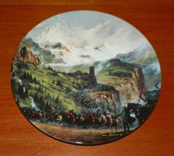 Collector Plate Lord of the Rings The Ride of the Rohirrim with COA Wedgewood China Made in England Out of Stock