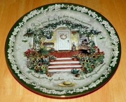 Collector Plate Cherish Your Family Welcome Home Collection Bradford Out of Stock