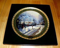 Thomas Kinkade Annual Collector Plate 1999 A Holiday Gathering First Issue Out of Stock