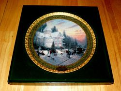 Thomas Kinkade Annual Collector Plate 2000 Victorian Christmas 2nd Issue Out of Stock