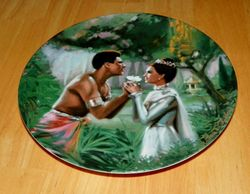 Collector Plate The King and I Classic Movie Series 1985 We Kiss In A Shadow