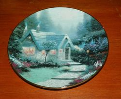 Thomas Kinkade Collector Plate Garden Cottages of England Cedar Nook Cottage