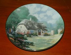 Thomas Kinkade Collector Plate Garden Cottages of England Stonegate Cottage
