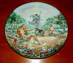 1978 Vintage Collector Plate The Creation Series Adam's Rib
