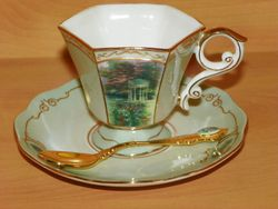 Collectibles Demi Cup Saucer & Spoon Thomas Kinkade Serenity Garden