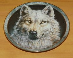 Collector Plate Arctic Nights Mystic Spirit Collection Wolves Wolf Out of Stock