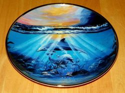 Collector Plate Dolphin Series Franklin Mint Heirloom Dance of the Dolphin Out of Stock