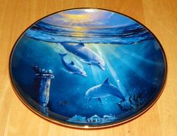 Collector Plate Dolphin Series Franklin Mint Heirloom Legend of the Dolphin