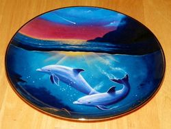 Collector Plate Dolphin Series Franklin Mint Heirloom Night of the Dolphin